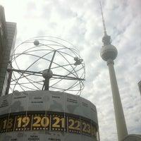 Photo taken at Weltzeituhr by Marc D. on 10/1/2012