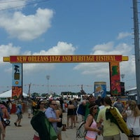 Photo taken at New Orleans Jazz and Heritage Festival by Steve Z. on 4/27/2013