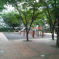 Photo taken at 압구정 개나리 공원 by Jun Eui K. on 7/27/2013