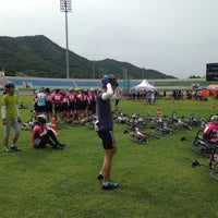 Photo taken at 연천공설운동장 by OJ S. on 6/21/2014
