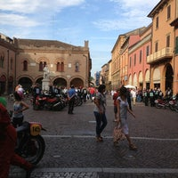 Photo taken at Piazza Guercino by Chiara on 7/8/2013