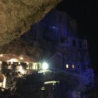 Photo taken at Grotta Palazzese by Chiara on 9/21/2016