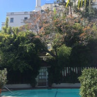 Photo taken at Chateau Marmont Pool by Chris S. on 10/28/2013