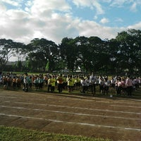 Photo taken at Marist School Football Grounds by Emily Ann O. on 1/27/2016