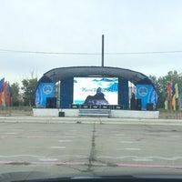 Photo taken at Площадь Курчатова by 🅿avel on 8/29/2014