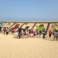 Photo taken at Haeundae Beach by Byunghyun L. on 6/7/2013