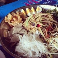 Photo taken at ส้มตำครกเงิน by zeeishappy on 2/21/2015