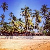 Photo taken at Anjuna Beach by Alexandra on 2/8/2014