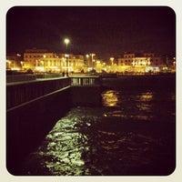 Photo taken at Pontile di Ostia by Pietro Paolo F. on 4/20/2013