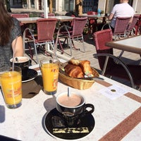 Photo taken at Café du Martroi by Aurelie on 5/17/2014