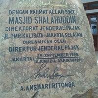 Photo taken at Masjid Shalahuddin Dirjen Pajak by Rizki K. on 3/11/2013
