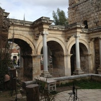 Photo taken at Hadrian's Gate by Nejdet T. on 2/9/2013