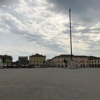 Photo taken at Piazza Grande by Giovanni B. on 8/19/2017