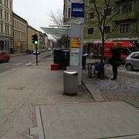 Photo taken at Stensgata (trikk) by Philip A. on 1/14/2013