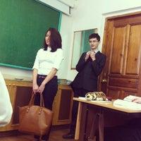 Photo taken at Гимназия № 122 им. Ж. А. Зайцевой by Марина M. on 4/15/2013