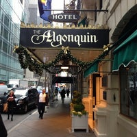 Photo taken at The Algonquin Hotel Times Square, Autograph Collection by Cindy C. on 11/30/2012