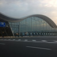 Photo taken at T2 Shanghai Pudong Int'l Airport by Sebastian D. on 4/15/2013