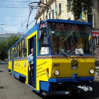 Photo taken at Трамвай-кафе by Kseniya S. on 7/19/2015