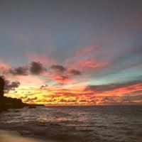 Photo taken at Tegal Wangi Beach by Ngurah J. on 1/20/2017
