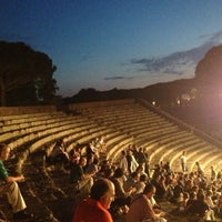 Photo taken at Teatro Ostia Antica by Joe on 7/20/2013