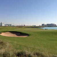 Photo taken at Yas Links Golf Course by Steve Q. on 1/24/2013