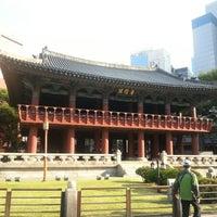Photo taken at Bosingak by Hyun Woo M. on 10/7/2012