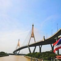 Photo taken at Bhumibol 1 Bridge by Sereekorn🐯 on 9/20/2014