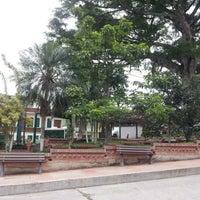 Photo taken at Parque principal Sasaima by Alexander H. on 3/23/2013