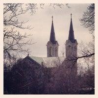 Photo taken at Kaarli kirik by Rowland W. on 4/24/2013