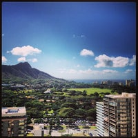 Photo taken at Waikiki Beach Walls by Brian M. on 2/23/2013