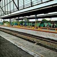 Photo taken at Stasiun Depok Baru by Miftah A. on 10/1/2012