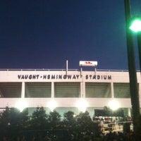 Photo taken at Vaught-Hemingway Stadium by Brad E. on 11/24/2012