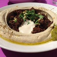 Photo taken at Reggev Hummus by Michael C. on 8/7/2014