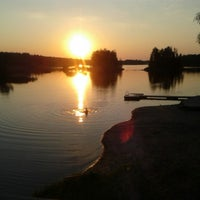 Photo taken at Hirvijärven Uimaranta by Minna J. on 8/5/2014