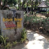 Photo taken at Bebek Bengil (Dirty Duck Diner) by MJ on 4/17/2013