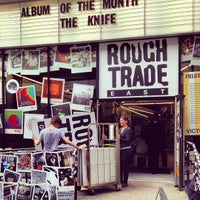 Photo taken at Rough Trade East by Simon T. on 4/17/2013