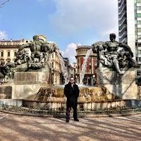 Photo taken at Piazza Solferino by Halis A. on 2/18/2013