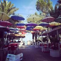 Photo taken at Meder Resort Hotel Beach by Merve Meltem A. on 10/9/2014