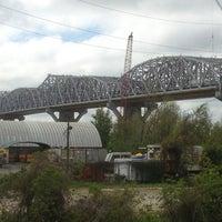 Photo taken at Huey P. Long Bridge by Hugh on 4/5/2013