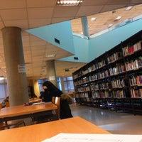 Photo taken at Biblioteca E.T.S.I Agrónomos by Nuria A. on 1/23/2014