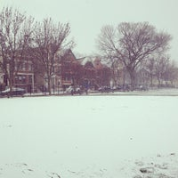 Photo taken at Holstein Park by Andrew M. on 12/25/2012