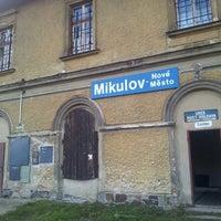 Photo taken at Železniční stanice Mikulov - Nové Město by Tomas P. on 10/26/2013