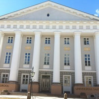 Photo taken at University of Tartu main building by Stefano G. on 4/28/2013
