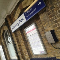Photo taken at Finsbury Park Railway Station (FPK) by Paul F. on 4/19/2013