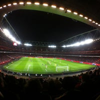 Photo taken at Emirates Stadium by Jaap T. on 1/30/2013