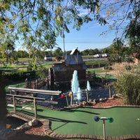 Photo taken at Udders and Putters Mini Golf Course by Darla on 10/2/2017