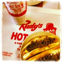Photo taken at Rudy's Hot Dog by Chris G. on 9/28/2012