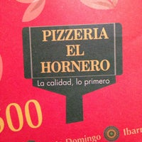 Photo taken at Pizzeria el Hornero by Edison A. on 11/19/2013