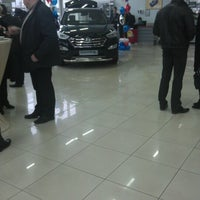 "Photo taken at Автоцентр ""Hyundai"" и ""Lada"" by Diane O. on 12/8/2012"