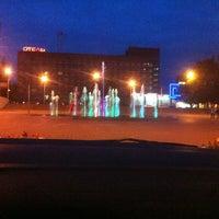 "Photo taken at Фонтан светомузыкальный ""Торнадо"" by Nasty on 8/25/2013"